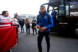 Tareiq Holmes-Dennis of Bristol Rovers arrives at Doncaster Rovers  - Mandatory by-line: Robbie Stephenson/JMP - 26/03/2019 - FOOTBALL - Keepmoat Stadium - Doncaster, England - Doncaster Rovers v Bristol Rovers - Sky Bet League One