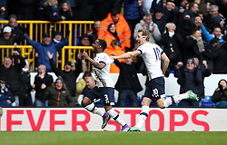 Danny Rose of Tottenham Hotspur celebrates scoring his sides second goal with Harry Kane of Tottenham Hotspur - Mandatory byline: Robbie Stephenson/JMP - 28/02/2016 - FOOTBALL - White Hart Lane - Tottenham, England - Tottenham Hotspur v Swansea City - Barclays Premier League