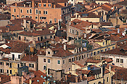 View overlooking the distinctive tile rooftops in Venice, Italy...Subject photograph(s) are copyright Edward McCain. All rights are reserved except those specifically granted by Edward McCain in writing prior to publication...McCain Photography.211 S 4th Avenue.Tucson, AZ 85701-2103.(520) 623-1998.mobile: (520) 990-0999.fax: (520) 623-1190.http://www.mccainphoto.com.edward@mccainphoto.com.