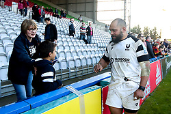John Afoa of Bristol Bears meets fans - Mandatory by-line: Robbie Stephenson/JMP - 23/02/2019 - RUGBY - Twickenham Stoop - London, England - Harlequins v Bristol Bears - Gallagher Premiership Rugby