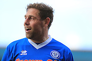 Grant Holt during the Sky Bet League 1 match between Rochdale and Swindon Town at Spotland, Rochdale, England on 30 April 2016. Photo by Daniel Youngs.