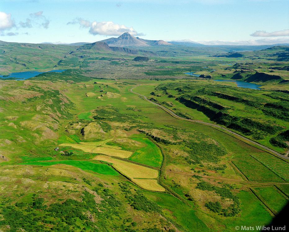 Litla-Skarð séð til norðurs, Borgarbyggð áður Stafholtstungnahreppur / Litla-Skard viewing north. Borgarbyggd former Stafholtstungnahreppur.