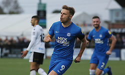 Matt Godden of Peterborough United celebrates scoring his sides first goal - Mandatory by-line: Joe Dent/JMP - 10/11/2018 - FOOTBALL - Hayes Lane - Bromley, England - Bromley v Peterborough United - Emirates FA Cup first round proper