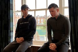 Andy Murray and (left) and Tom Beahon during the Castore partnership announcement at the Queen's Club, London. Picture date: Wednesday March 6, 2019. See PA story TENNIS Murray. Photo credit should read: Eleanor Brooks/PA Wire