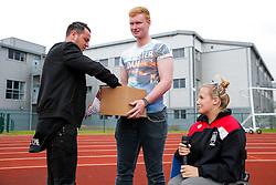 New Bristol City signing Lee Tomlin makes the half time draw - Mandatory byline: Rogan Thomson/JMP - 09/07/2016 - FOOTBALL - Stoke Gifford Stadium - Bristol, England - Bristol City Women v Milwall Lionesses - FA Women's Super League 2.