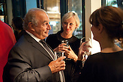 SIR PHILIP GREEN, Leaving dinner for Kate Phelan given by Alex Shulman and Mary Homer. Riding House Cafe. Great Titchfield st. London. 20 September 2011. <br /> <br />  , -DO NOT ARCHIVE-© Copyright Photograph by Dafydd Jones. 248 Clapham Rd. London SW9 0PZ. Tel 0207 820 0771. www.dafjones.com.