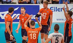23-09-2016 NED: EK Kwalificatie Nederland - Oostenrijk, Koog aan de Zaan<br /> Nederland wint met 3-0 van Oostenrijk / Daan van Haarlem #1, Kay van Dijk #12