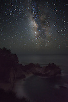 McWay Falls and Milky Way Galaxy, Julia Pfeiffer Burns State Park, California