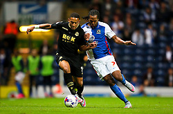 Liam Feeney of Bolton Wanderers is challenged by Nathan Delfouneso of Blackburn Rovers  - Mandatory byline: Matt McNulty/JMP - 07966386802 - 28/08/2015 - FOOTBALL - Ewood Park -Blackburn,England - Blackburn Rovers v Bolton Wanderers - SkyBet Championship