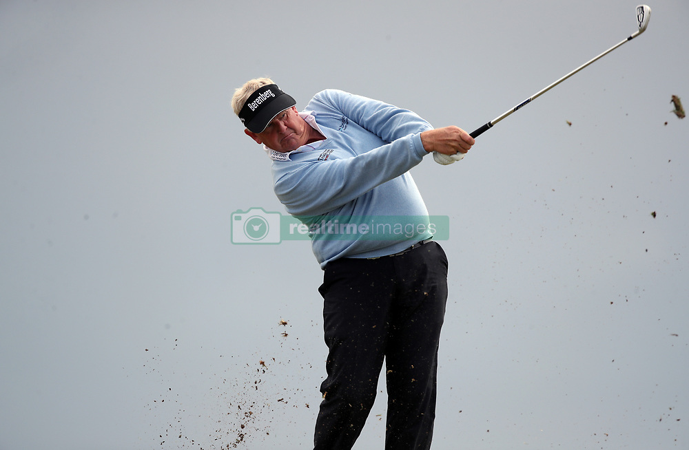 Scotland's Colin Montgomerie on the 4th hole during day three of the Senior Open at Royal Porthcawl Golf Club.