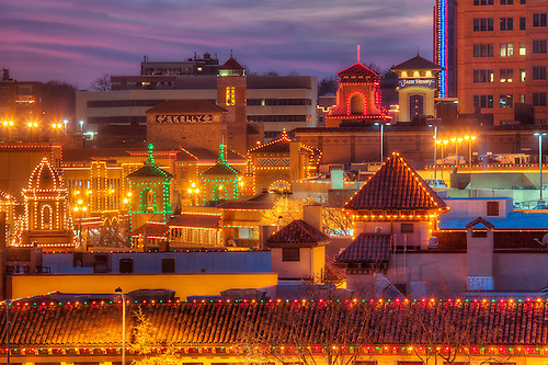 Plaza Lights   Country Club Plaza Lit Up For The Christmas/holiday Season,  Kansas