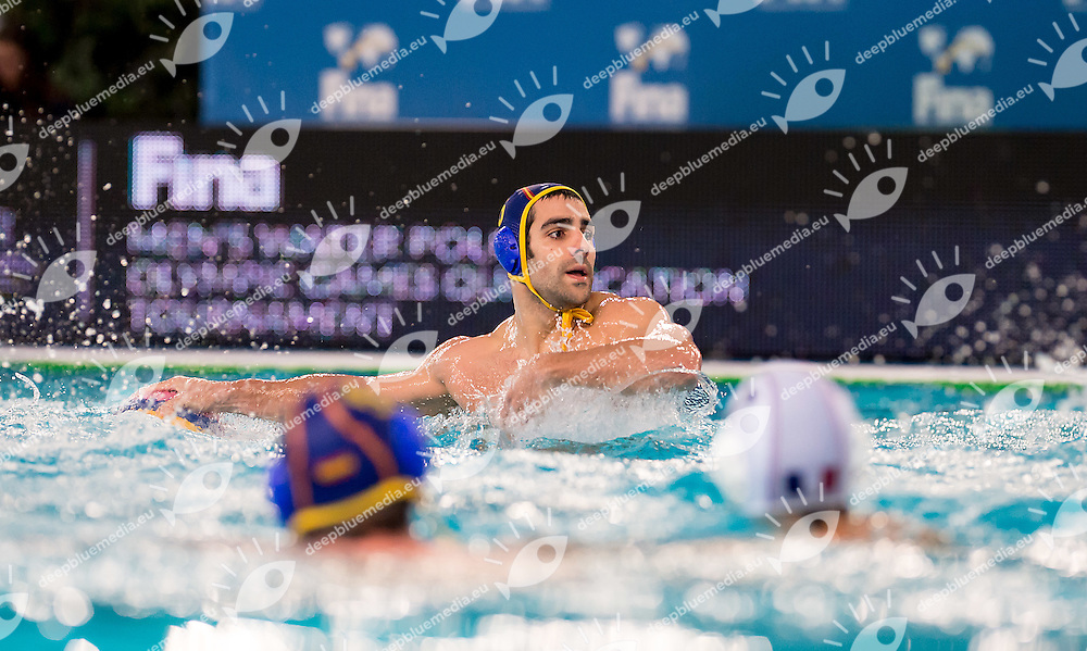 5 Guillermo MOLINA ESP<br /> FINA Men's Water polo Olympic Games Qualifications Tournament 2016<br /> Final 3rd place<br /> France FRA (White) Vs Spain ESP (Blue)<br /> Trieste, Italy - Swimming Pool Bruno Bianchi<br /> Day 08  10-04-2016<br /> Photo G.Scala/Insidefoto/Deepbluemedia