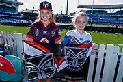 Young Warriors fans. Sydney Roosters v Vodafone Warriors. NRL Rugby League. Sydney Cricket Ground, Sydney, Australia. 18th August 2019. Copyright Photo: David Neilson / www.photosport.nz