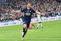 SOCCER : Finale coupe de France - 05/21/2016<br /> Marseille - Paris Saint Germain 2 - 4 <br /> joie de Zlatan Ibrahimovic (PSG) <br /> Norway only