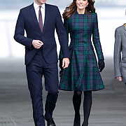 Prince William the Duke of Cambridge and Catherine the Duchess of Cambridge arrive to officially open V&A Dundee. 29th Jan 2019<br /> <br /> Robert Perry EPA/EFE
