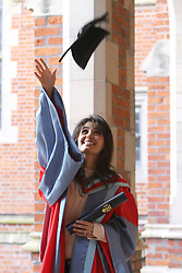Image ©Licensed to i-Images Picture Agency. 05/07/2014. Northern Ireland, Singer Katie Melua celebrates after Graduation at Queen's University Belfast. Picture by i-Images