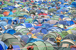 Camping fields during the Glastonbury Festival at Worthy Farm in Pilton, Somerset. Picture date: Friday June 23rd, 2017. Photo credit should read: Matt Crossick/ EMPICS Entertainment.