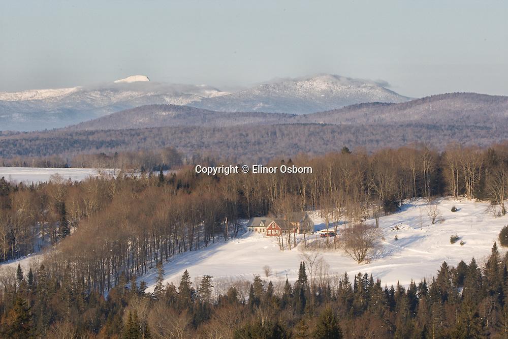 Elinor's Hill ski trails and Mt Mansfield