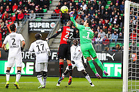 Remy VERCOUTRE / Sylvain ARMAND  - 25.01.2015 - Rennes / Caen  - 22eme journee de Ligue1<br /> Photo : Vincent Michel / Icon Sport *** Local Caption ***