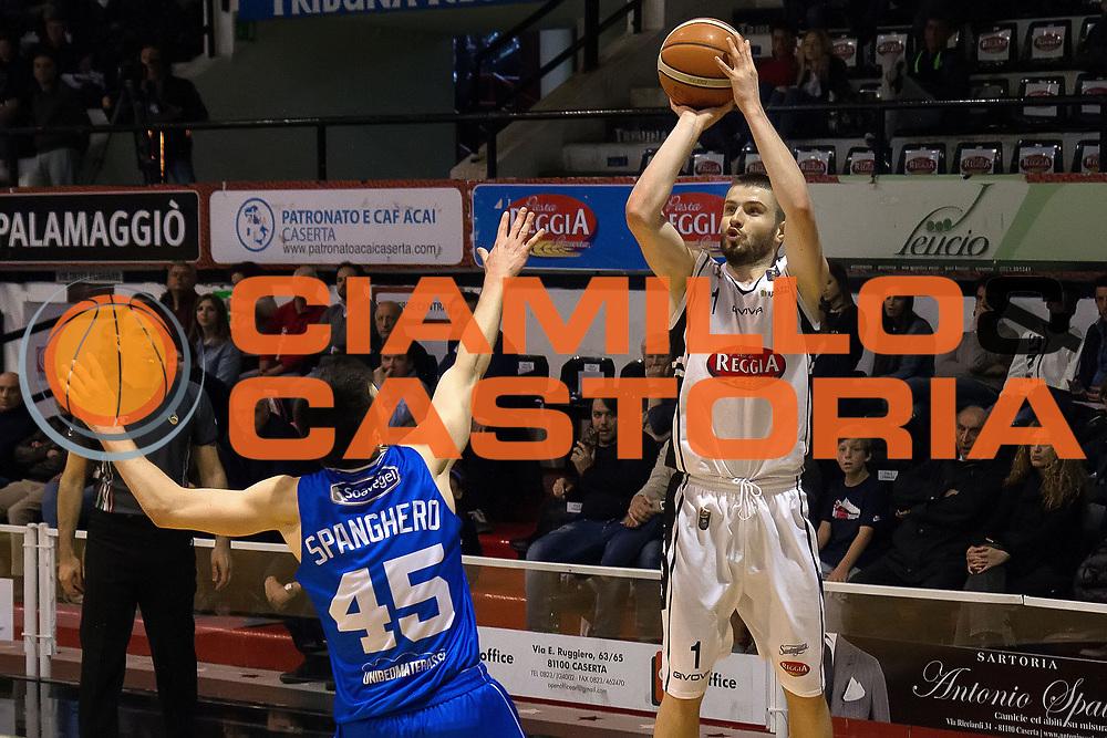 Dardan Berisha<br /> Pasta Reggia Caserta - Enel Brindisi<br /> Lega Basket Serie A 2016/2017<br /> Caserta 23/04/2017<br /> Foto Ciamillo-Castoria
