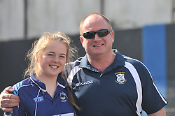 Supporting the Westport Bulls on junior cup final was Eva McCormack with her dad Pat.<br /> Pic Conor McKeown