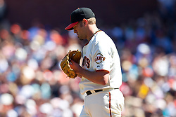 May 30, 2010; San Francisco, CA, USA;  San Francisco Giants relief pitcher Jeremy Affeldt (41) during the eighth inning against the Arizona Diamondbacks at AT&T Park.  San Francisco defeated Arizona 6-5 in 10 innings.