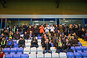FGR fans during the Vanarama National League match between Macclesfield Town and Forest Green Rovers at Moss Rose, Macclesfield, United Kingdom on 12 November 2016. Photo by Shane Healey.