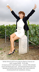 Writer KATHY LETTE on a trip to Reims, France on 20th August 2002.<br />