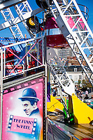 """Chartres, France. """"The Funny Wheel"""" - The ferris wheel in town."""