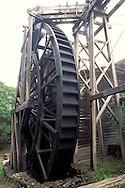 Wooden waterwheel, c.1870, Bale Grist Mill State Historic Park, near Calistoga, Napa Valley Wine Country, California