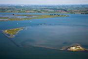 Nederland, Zuid-Holland,  Oostflakkee, 12-06-2009; Natuurgebied Hellegatsplaten, in beheer bij Staatsbosbeheer..luchtfoto (toeslag), aerial photo (additional fee required).foto/photo Siebe Swart
