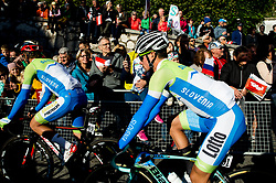 Primoz Roglic of Slovenia prior to the Men's Elite Road Race a 258.5km race from Kufstein to Innsbruck 582m at the 91st UCI Road World Championships 2018 / RR / RWC / on September 30, 2018 in Innsbruck, Austria. Photo by Vid Ponikvar / Sportida