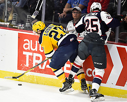 Action from Game 6 of the 2017 MasterCard Memorial Cup bertween the Erie Otters and Windsor Spitfires at the WFCU Centre in Windsor, ON on Wednesday May 24, 2017. Photo by Aaron Bell/CHL Images