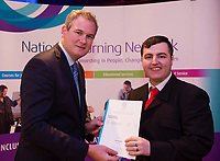 Sean Kyne TD Minister of State for Community Affairs, Natural Resources and Digital Development, presenting certification  in Employer Based Training  to   Paul MurrayQQI level 4 in IT skills  workplace safety and Work Experience. Photo:Andrew Downes, xposure .