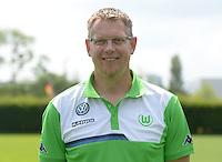 German Soccer Bundesliga 2015/16 - Photocall of VfL Wolfsburg on 16 July 2015 at the Volkswagen-Arena in Wolfsburg, Germany: masseur Manfred Kross