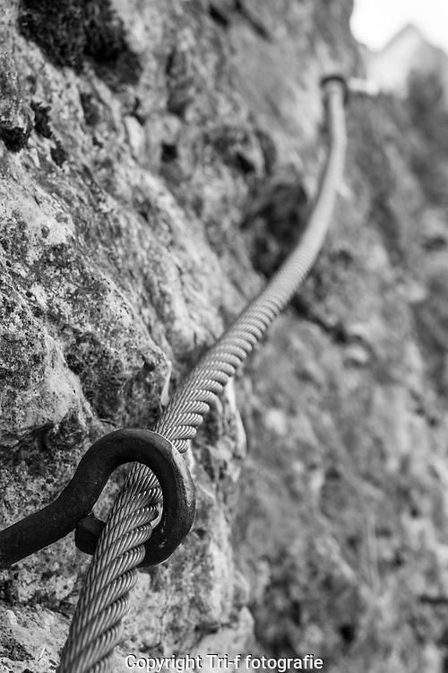 Sicherung für Bergwanderer