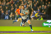 Pete Horne (#12) (Glasgow Warriors) of Scotland scores Scotland's first try during the Autumn Test match between Scotland and South Africa at the BT Murrayfield Stadium, Edinburgh, Scotland on 17 November 2018.