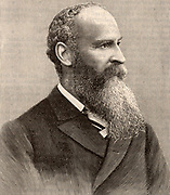 John Mackenzie Bacon (1846-1904) English scientific writer and lecturer interested in astronomy, ballooning, wireless telegraphy, acoustics, and cinematography. Engraving c1900.