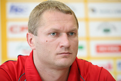 Edi Koksarov at press conference of handball club RK Celje Pivovarna Lasko before new season 2008/2009, on September 2, 2008 in Celje, Slovenia. (Photo by Vid Ponikvar / Sportal Images)