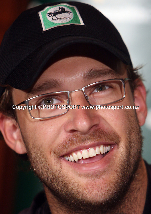 New Zealand captain Daniel Vettori at a press conference ahead of tomorrow's 1st game of the 3 match Chappell Hadlee one day cricket series.<br />Adelaide Oval, Adelaide, Australia. Thursday 13 December 2007. Photo: Andrew Cornaga/PHOTOSPORT