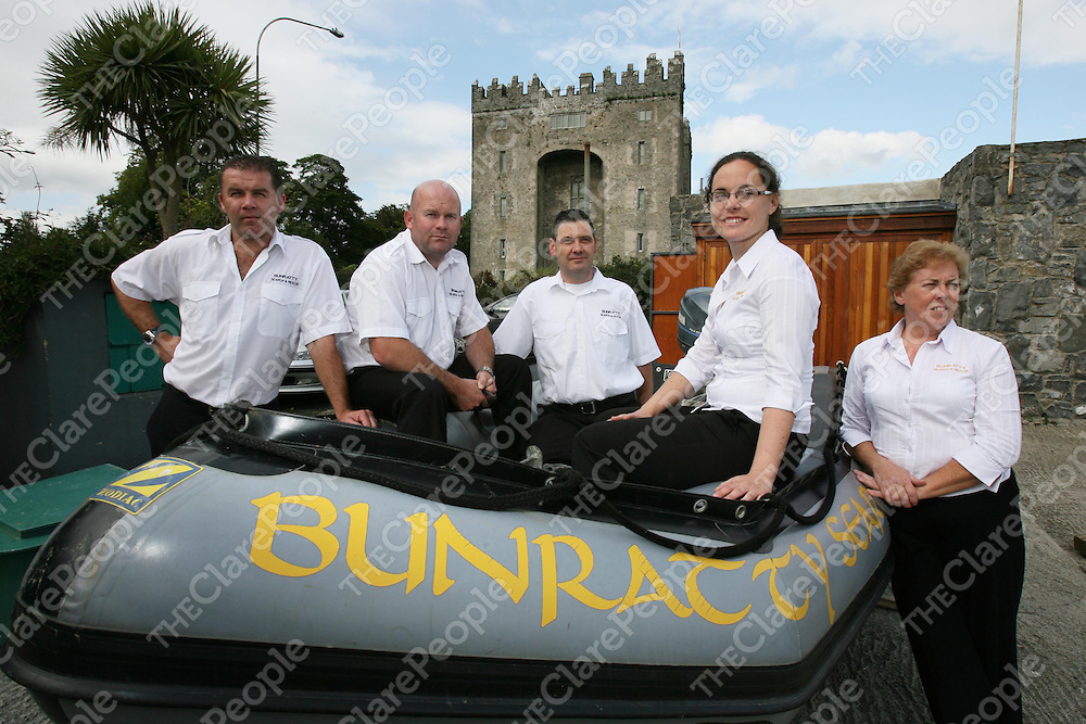 Members of Bunratty Search and Rescue who will be taking part in the Sponsored Cycle ,from left Ger Browne,Mick Worland,Charlie Murray,Mairead Elliott and Mary Elliott.<br /> <br /> Photograph by Eamon Ward