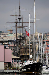 ITALY GENOA 22OCT08 - The Neptune, a replica of a Spanish galleon used in Roman Polanski's film 'Pirates' lies permanently moored in the port of Genoa, Italy...jre/Photo by Jiri Rezac..© Jiri Rezac 2008..Contact: +44 (0) 7050 110 417.Mobile:  +44 (0) 7801 337 683.Office:  +44 (0) 20 8968 9635..Email:   jiri@jirirezac.com.Web:    www.jirirezac.com..All images © Jiri Rezac 2008. All rights reserved.
