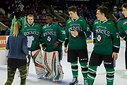 KELOWNA, CANADA - MARCH 17:  Jersey off the back promotion at the Kelowna Rockets game on March 17, 2017 at Prospera Place in Kelowna, British Columbia, Canada.  (Photo By Cindy Rogers/Nyasa Photography,  *** Local Caption ***