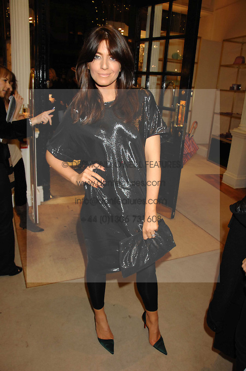 CLAUDIA WINKLEMAN at a party to celebrate the launch of the book 'Long Way Down' by Ewan McGregor and Charley Boorman held at Smythson, 40 New Bond Street, London W1 on 19th November 2007,<br />