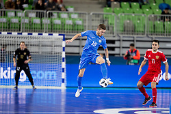 Chingiz Yessenamanov of Kazakhstan during futsal match between National teams of Kazakhstan and Russia at Day 5 of UEFA Futsal EURO 2018, on February 3, 2018 in Arena Stozice, Ljubljana, Slovenia. Photo by Urban Urbanc / Sportida