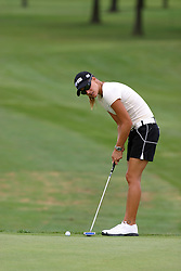 30 Aug 2005<br /> <br /> Paula Marti scopes out a putt on the 1st hole.<br /> <br /> State Farm Classic, LPGA Golf Tournament, Tuesday Practice, The Rail Golf Course, Springfield, IL