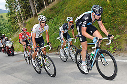 07.07.2011, AUT, 63. OESTERREICH RUNDFAHRT, 5. ETAPPE, ST. JOHANN-SCHLADMING, im Bild Etappensieger Ian Stannard, (GBR, Sky Procycling), Stefan Denifl, (AUT, Leopard Trek), Gatis Smukulis, (LAT, HTC Highroad), Gregory Rast, (SUI, Team Radioshack) // during the 63rd Tour of Austria, Stage 5, 2011/07/07, EXPA Pictures © 2011, PhotoCredit: EXPA/ S. Zangrando