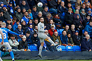 Portsmouth midfielder Ryan Williams (7) in action  during the EFL Sky Bet League 1 match between Peterborough United and Portsmouth at London Road, Peterborough, England on 7 March 2020.