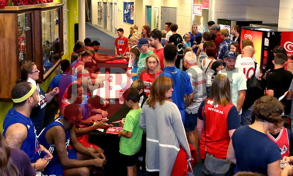 Bristol Flyers players meet and greet fans after the match with USA Select - Mandatory by-line: Robbie Stephenson/JMP - 08/09/2016 - BASKETBALL - SGS Arena - Bristol, England - Bristol Flyers v USA Select - Preseason Friendly