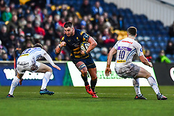 Matt Cox of Worcester Warriors in action - Mandatory by-line: Craig Thomas/JMP - 27/01/2018 - RUGBY - Sixways Stadium - Worcester, England - Worcester Warriors v Exeter Chiefs - Anglo Welsh Cup